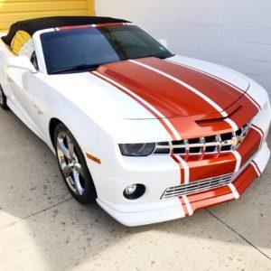 White Orange Camaro