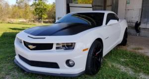 White and Black Camaro
